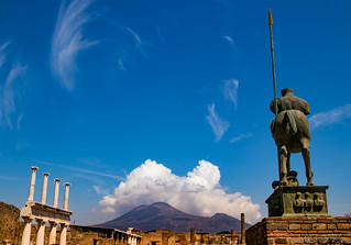 Vesuvio from Pompeii