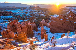 Thor's Hammer! Bryce Canyon National Park Snowbound Sunrise! Nikon D810 Fine Art Landscapes Bryce Canyon NP Utah Winter Snowstorm: Elliot McGucken Winter Snow Fine Art Landscape Photography