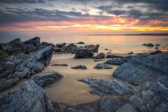 On The Rocks (Rich Walker75) Tags: beach beaches cornwall whitsand bay landscape landscapes landscapephotography sea seaside seascape seascapes coast coastline coastal rock rocks sky sunet cloud clouds oean canon england efs1585mmisusm eos eos80d evening