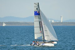 800_4640 (Lox Pix) Tags: queensland qld australia woodypoint hyc humpybongyachtclub winterbash foiling foilingcatamaran catamaran trimaran loxpix bramblebay boats