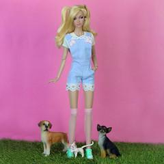 Poppy Parker Pets (halscary) Tags: poppy parker petit paris pink doll dolls disney color infusion fashion royalty integrity toys fair pets 16 barbie boneca arthemis sailormoon kawaii
