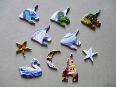 Unicorn Fantasy - whimsies, main puzzle. (pefkosmad) Tags: shapedpuzzle bonuspuzzle unicornfantasy whimsies figurals shapedpieces incomplete missingpieces jigsaw puzzle hobby pastime leisure masterpieces co