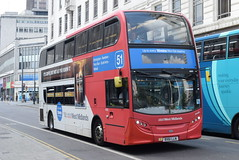NXWM 4868 @ Corporation Street, Birmingham (ianjpoole) Tags: national express west midlands alexander dennis enviro 400 bx61lln 4868 working route 51 lower bull street birmingham walsall st pauls bus station
