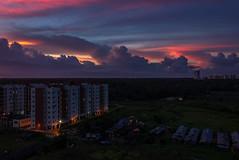 Post sunset (views@vista) Tags: bengal blue buildings cityoutskirts clouds cloudysky dramaticsky green greenery kolkata landscape nature outdoor overcast rural sky