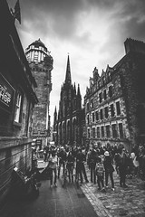 213/365 - The Royal Mile (Forty-9) Tags: 1staugust2018 photoaday 2018 street forty9 3652018 365 day213 blackandwhite edinburgh tomoskay bw lightroom efslens 01082018 canon scotland streetphotography theroyalmile eos60d project3652018 wednesday efs1022mmf3545usm project365 august 213365