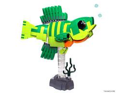 Bluegill (Takamichi Irie) Tags: lego fish bluegill animal freshwater river fresh water