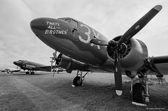C-47 Skytrain That's All Brother (dpsager) Tags: 2018 airventure bw c47 dday dpsagerphotography douglasc47skytrain eaa eaaoshkoshairshow eos1v film kodak oshkosh portra400bw thatsallbrother wwii wisconsin aircraft airplane airshow osh18