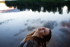 lol (jillian rain snyder) Tags: dusk sunset park nature landscape trees pnw oregon mintobrown salem pacificnorthwest travel river willamette water woman portrait clouds sky reflection natural
