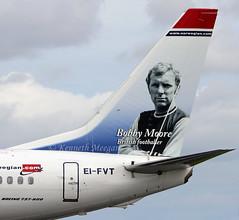 EI-FVT (Ken Meegan) Tags: eifvt boeing737800 42280 norwegianairinternational dublin 1382018 bobbymoorebritishfootballer logojet norwegian boeing737 boeing 737 737800 b737 b737800