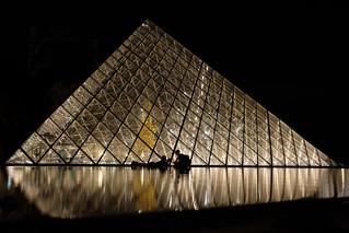 Pause au pied de la pyramide