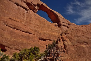 A Color Contrast Between Sandstone and Blue Skies (Arches National Park)