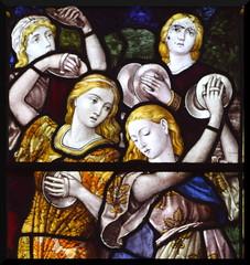 Miriam and the dancing girls (Burlison & Grylls, 1880s) (Simon_K) Tags: pulhamstmary pulhams norfolk eastanglia church churches