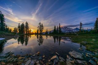 Rainier Tarn Sunset Reflection 10mm
