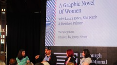 Edinburgh International Book Festival 2018 - A Graphic Novel of Women 01 (byronv2) Tags: newtown charlottesquare edinburgh edimbourg literature books livres eibf eibf2018 edinburghinternationalbookfestival2018 edinburghinternationalbookfestival bookfestival literaryfestival peoplewatching candid spiegeltent stage man woman publisher publishing 404ink bhpcomics weshallfightuntilwewin feminism history women comics bandedessinee graphicnovel shanazir laurajones heatherpalmer jennyniven