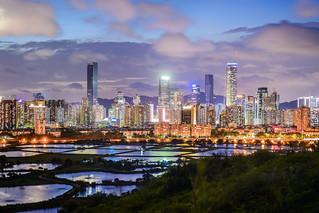 Shenzhen skylight viewed from HK