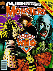 Famous Monsters #155 (1979) (gameraboy) Tags: vintage famousmonsters 155 1979 1970s doctorwho television dalek