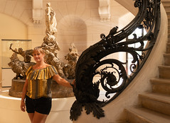 Debbie Louve (S Hancock) Tags: a6300 sony beautiful debbie woman france louve paris statues stair case
