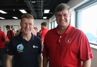 ESA astronaut Tim Peake and Vice-President of Raytheon, Don McMonagle