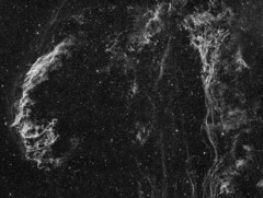 The Eastern Veil and Pickering's Triangle (NGC6992) imaged in Hydrogen-alpha (Andrew Klinger) Tags:
