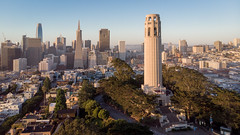Coit Tower (A Sutanto) Tags: san francisco morning dawn sunrise coit tower landmark icon iconic city skyline drone aerial shot view