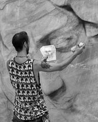 Artist at work (Darea62) Tags: art artist street people shirt seravezza painting painter drawing marble monochrome blackandwhite blackwhite bw
