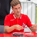 Simon Zoller during autograph session
