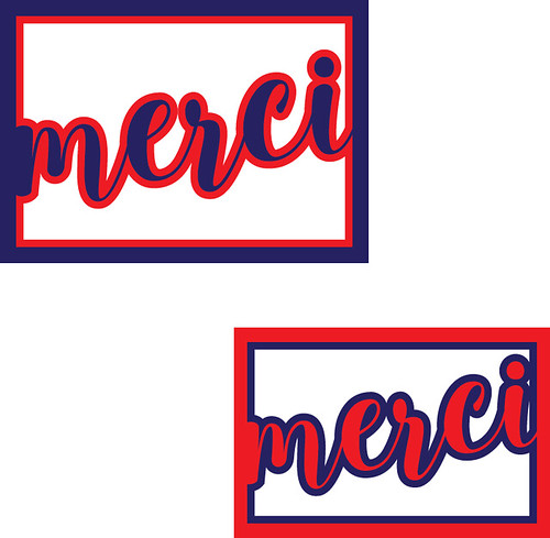 merci layered card front