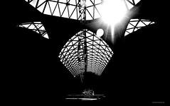 Buenos Aires, la reina del Plata. Serie1 (Aprehendiz-Ana Lía) Tags: interior borges buenosaires argentina bw bn luz silueta líneas formas espacioculturalborges bianco preto nikon ciudad city analialarroude sombras