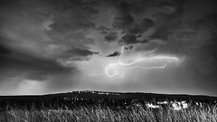 The storm rumbles #2 (ZeGaby) Tags: blackandwhite champagne eclairs landscape lightning marne naturephotography noiretblanc orages paysage pentax2470mm pentaxk1 storm thunderstorm avenayvaldor grandest france fr