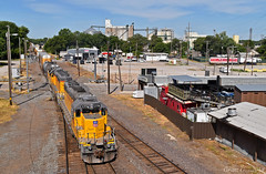 "Eastbound Transfer in Kansas City, MO (""Righteous"" Grant G.) Tags: up union pacific railroad railway locomotive train trains east eastbound emd power engine transfer freight yard job kansas city missouri"