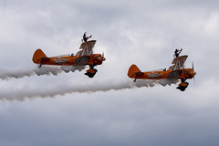 DSC_9497 copy (quintinsmith_ip) Tags: aerosuperbatics flyingcircus 'superstearmans stearmans plane formation flight smoke smoking orange white wingwalkers sunderland 2018