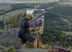 Painter (l4ts) Tags: landscape derbyshire peakdistrict darkpeak curbaredge derwentvalley artist painter painting