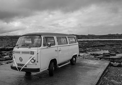 Whitley Bay, St Marys lighthouse. . . (CWhatPhotos) Tags: cwhatphotos white vw volkswagen mini bus vehicle summer 2018 photographs photograph pics pictures pic picture image images foto fotos photography artistic that have which contain whitley bay beach coast st marys lighthouse light house clouds cloudy north east england down by olympus pen ep5 micro four thirds 43