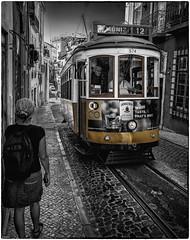 MONIZ 12 (adrianstadelmann) Tags: lissabon portugal lissaboa eléctricos martim moniz martimmoniz praçadafigueira jameson whiskey jamesonirishwhiskey irishwhiskey irish irishwhiskeyinportugal irishwhiskeydriver bw blancetnoire blackandwhite noiretblanc strassenbahn drinkanddrive street streetart astpic