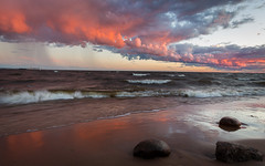 After the storm (ai-ja) Tags: stpetersburg спб sunset afterthestorm calm stones sea nature colors