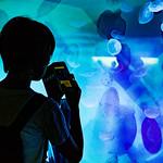 A Gil at The Moon Jellyfish aquarium in Sumida Aquarium in Tokyo Sky Tree Town :ミズクラゲの水槽にて(すみだ水族館) thumbnail