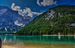 Capella del lago (giannipiras555) Tags: chiesa panorama landscape green verde riflessi dolomiti lago braies natura nuvole