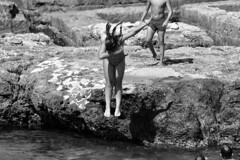 Il salto (marcus.greco) Tags: jump portrait blackandwhite rock water