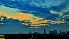 ..rise and shine, sweety.. (Ferry Octavian) Tags: canon eos 750d rebel t6i dslr landscape street shot travel trip noflash handheld explore color colour outdoor efs 1855 stm metro metropolis city cityscape modern building skyscraper tower sunrise sun orange sky skyline horizon beautiful golden hour cloud jakarta indonesia capitalcity dki dkijakarta java southeast asia sea hotel room view east tebet amaris supomo long exposure