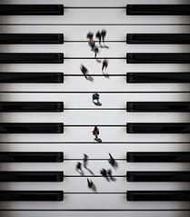 Encounter in C Major (felipemorin) Tags: surreal surrealism surrealist conceptual concept photomanipulation photoshop lightroom piano encounter people above perspective nikon d3400 nikond3400 chile iquique