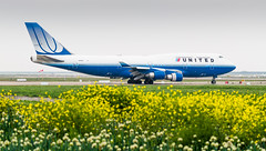 Blue Tulip 747 (hugociss) Tags: united continental airlines ua 747 747400 b747 rwy 34l blue tulip departure taxi runway zspd pvg shanghai pudong international airport aviation aircraft aeroplane spring city n174ua 34 r1 hold short