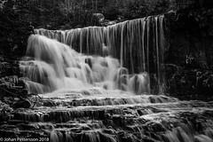The waterfall (johanpettersson63) Tags: västragötalandslän sverige se hunneberg byklevsfallet waterfall water bw blackandwhite longexposure