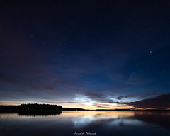 Perseids 2018 (laurilehtophotography) Tags: perseids 2018 meteor shootingstar clouds noctilucentclouds night sky stars summer nightphotography nikon d750 samyang 14mm nature landscape water reflections lake amazing europe