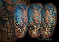 (Lászlo Bódi (LACI) tattoo & airbrush artist & ow) Tags: bldesigntattoo tattoostudio veplke germany tattoo tattoos tatts tattoed ink inked inkedup women female chimneysweep pinup colortattoo upperarm