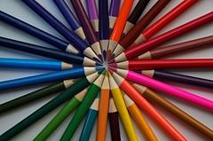 Rainbow.... (Marco_964) Tags: colors colori rainbow arcobaleno cerchi circles matite pentaxk50 pencil crayon pentax reflex multicolor multicircles linee lines closeup closeups