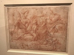 Michelangelo_Domestic Scene of a Woman and Man with Three Children and a Cat (Hiero_C) Tags: art drawing italian renaissance michelangelo newyork metropolitanmuseum