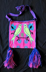 Mexico Embroidered Bag Huichol Morral (Teyacapan) Tags: huichol bag bolsa morral wixarika birds pajaros bordados embroidered textiles mexican