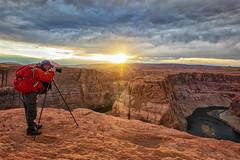 Photographing Horseshoe Bend (KPortin) Tags: horseshoebend arizona sunset wilbur river cliff canyon