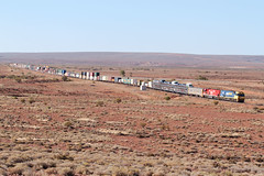 NR69 NR75 6PM6 Wirrappa 18 03 2018 (EMD4301) Tags: nr69 nr75 6pm6 ge agoninancoltd pacificnational wirrappa transaustralianrailway tar