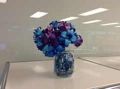 traditional lily in blue & purple (transitfolder) Tags: origami flower traditionallily